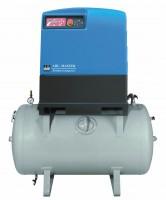 Kompresor šroubový, vzdušník a kondenzační sušička