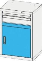 Dvířka zásuvkových skříní ZA a ZE s prahem, DP27-650
