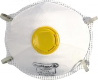 Jednorázový respirátor třídy FFP2 s výdechovým ventilkem a nosní svorkou