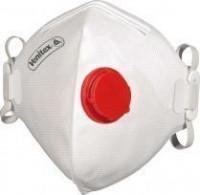 Jednorázový respirátor třídy FFP3 s výdechovým ventilkem a nosní svorkou