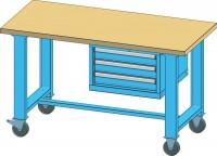 Mobilní pracovní stůl MPS, MPS3-715M