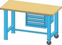 Mobilní pracovní stůl MPS, MPS6-720M