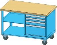 Mobilní pracovní stůl, PPS-3M