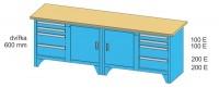 Modulární pracovní stůl, PS3-1M