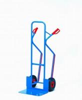 Ocelový rudl s plastovými rukojeťmi a vyměnitelnými plastovými lyžinami - B1331L