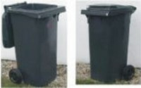 Plastová popelnice dvoukolečková 120 litrů - černá