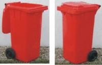 Plastová popelnice dvoukolečková 120 litrů - červená
