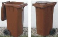 Plastová popelnice dvoukolečková 120 litrů - hnědá
