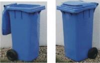 Plastová popelnice dvoukolečková 120 litrů - modrá