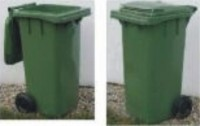 Plastová popelnice dvoukolečková 120 litrů - zelená