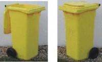 Plastová popelnice dvoukolečková 120 litrů - žlutá