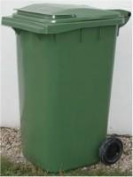 Plastová popelnice dvoukolečková 240 litrů