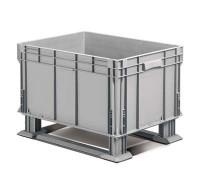Plastová přepravka ATHENA 800x600x450 mm s lyžinami
