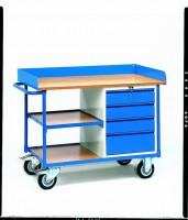 Pojízdný pracovní stůl, ložná plocha 1120x650mm - 2437
