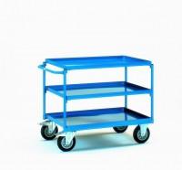 Policový vozík se 3 policemi (rovná rukojeť) - 4832