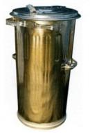 Pozinková kulatá kovová popelnice objem 110 litrů