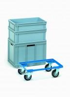 Přesouvací vozík pro plastové bedny 600x400 mm - 13580