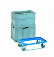 Přesouvací vozík pro plastové bedny 600x400 mm - 13590