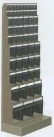 Regál stojanový s plast.uniboxy, 600x325x1500 mm, 10 uniboxů