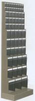 Regál stojanový s plast.uniboxy, 600x325x1750 mm, 11 uniboxů