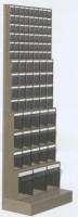 Regál stojanový s plast.uniboxy, 600x325x1750 mm, 14 uniboxů