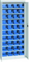 Skříň na plast.bedny, s dveřmi, 700x270x1650mm, 21-11160-24