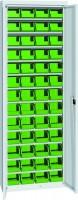 Skříň na plast.bedny, s dveřmi, 700x270x2000mm, 21-11200-24