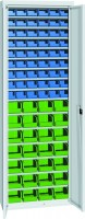 Skříň na plast.bedny, s dveřmi, 700x270x2000mm, 21-11200-34