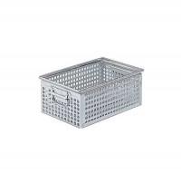 Stohovací kovová bedna perforov. 450x300x200 mm, 180-4FPZ