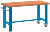 Stůl pracovní pojízdný, 1xpev. noha, 1xpojízd. noha, 2000 mm