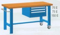 Stůl pracovní pojízdný, 2xstol.noha, 1xzásuvk.skříň 2000mm