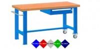 Stůl pracovní pojízdný, 2xstol.noha, 1xzásuvka 150mm, 1250mm