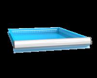 Zásuvka ZE (27x36D) jednoduchý výsuv 88%, ZEE75