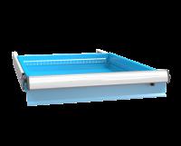 Zásuvka ZE (27x36D) s pojistkou plný výsuv 100%, ZET100P