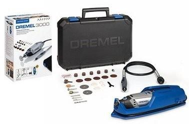 Frézka/vrtačka DREMEL 3000 Series EZ Wrap case, 25ks přísl., ohebná hřídel, plast. kufr