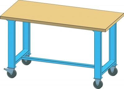 POLAK Mobilní pracovní stůl MPS, MPS1-820M