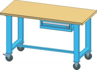 POLAK Mobilní pracovní stůl MPS, MPS2-720M