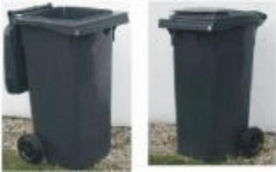 GRENT Plastová popelnice dvoukolečková 120 litrů - černá