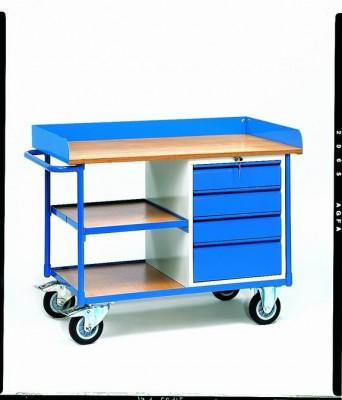 FETRA Pojízdný pracovní stůl, ložná plocha 1120x650mm - 2437