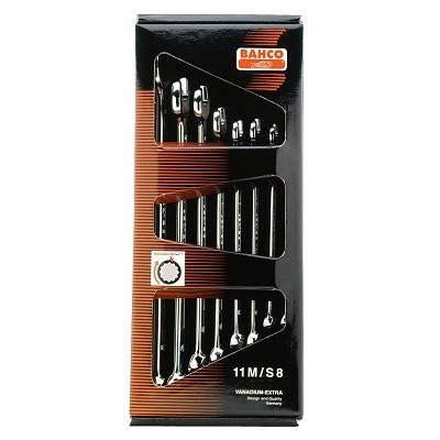BAHCO Sada OP klíčů 8-mi dílná, vel.8-19mm, v krabici, dlouhá