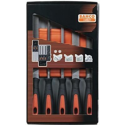 BAHCO Sada pilníků-5-ti dílná délka 200mm, sek 1+2