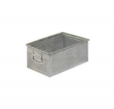 REGAZ Stohovací kovová bedna perforov. 450x300x200 mm, FLA651000ZZ